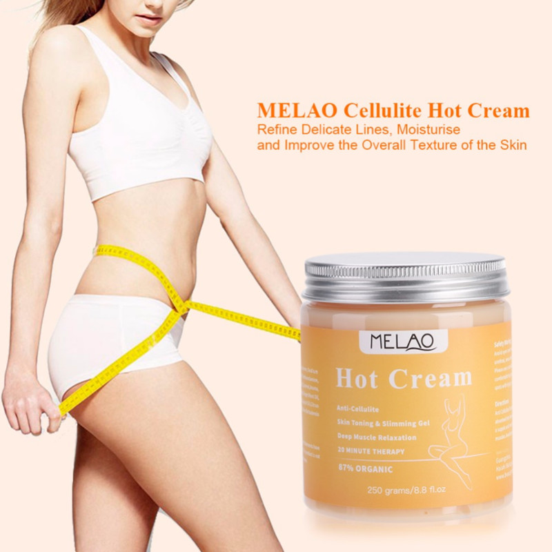 MELAO 250g Anti Cellulite Fat Burner Gel Slimming Anti-Cellulite Body Massager