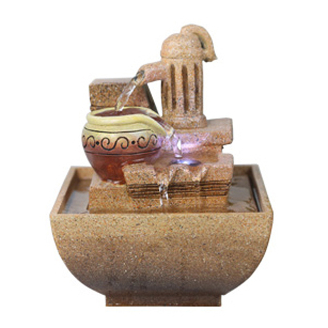 Decorative Desktop Water Fountain with LED Light