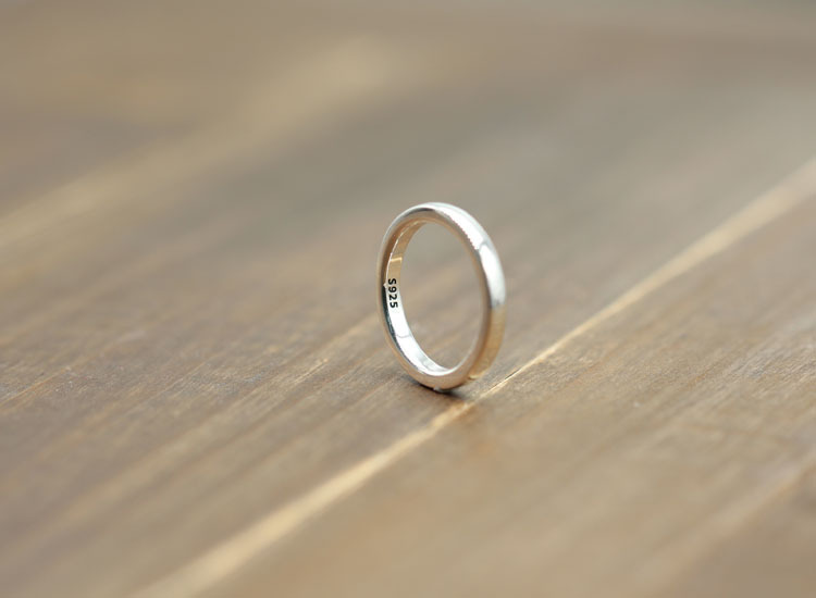 925 Pure Silver Ring Vintage Hipster Minimalist Men Womens Rings Sterling Old Gift Your Lover Party Wedding Bands Real Sale In From Jewelry