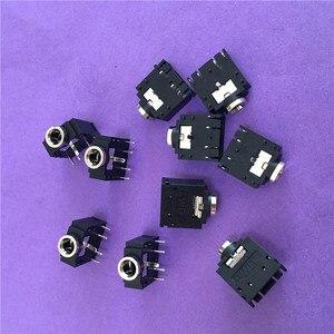 Разъем для наушников ST093Y, разъем для наушников 3,5 дюйма, 10 шт., серебряное покрытие, переговорное аудио разъем DIP 5Pin, распродажа