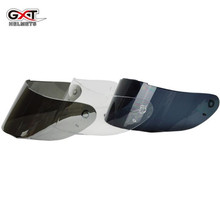 GXT Motorcycle Helmet Visor Lens Full Face Motorbike Helmets Goggles Glass Black Clear Silver For GXT