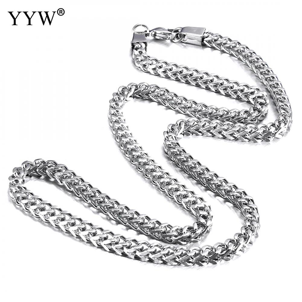 Stainless Steel Silver Chain Necklaces YYW Hip Hop Fashion ...
