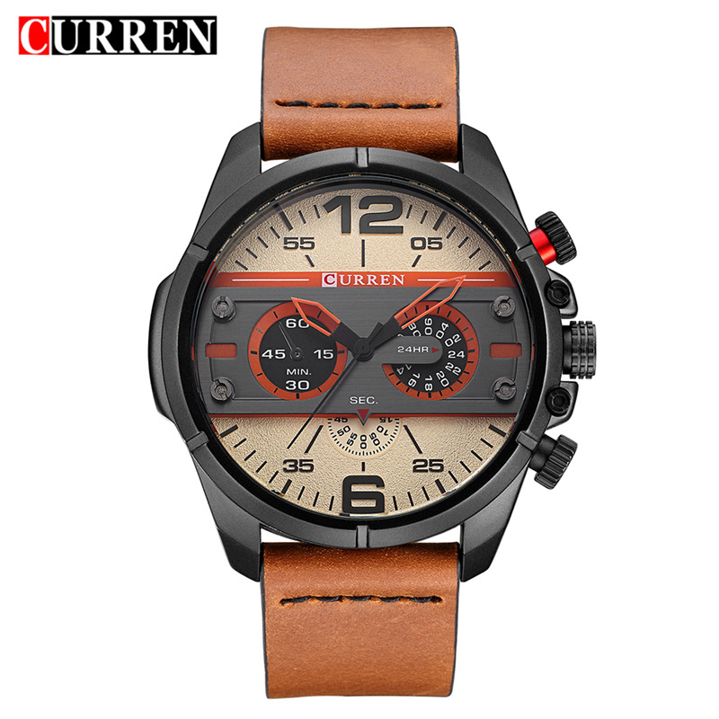 2017 Curren Sport Watch Men Top Brand Luxury Quartz Wristwatch Mens Casual Military Clock Man Watches Relogio Masculino 8259 curren watch men brand luxury military quartz wristwatch fashion casual sport male clock leather watches relogio masculino 8284