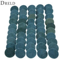 DRELD 50Pcs/lot 50mm 2 Fine Roll Lock Surface Conditioning Discs Nylon Sanding Disc for Metal Grinding Polishing Cleaning Tools