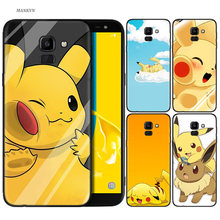Silicone Case For Samsung Galaxy J4 J6 A6 A8 Plus A7 A9 J8 2018 A5 2017 Soft Cover Shell Pokemons(China)