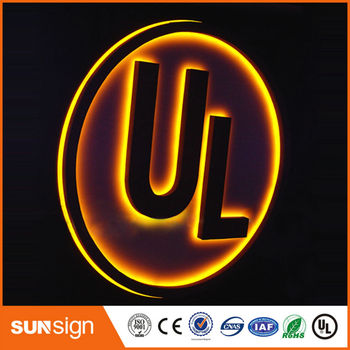 Advertising Stainless steel letters LED for cosmetics shop names cosmetics shop ru
