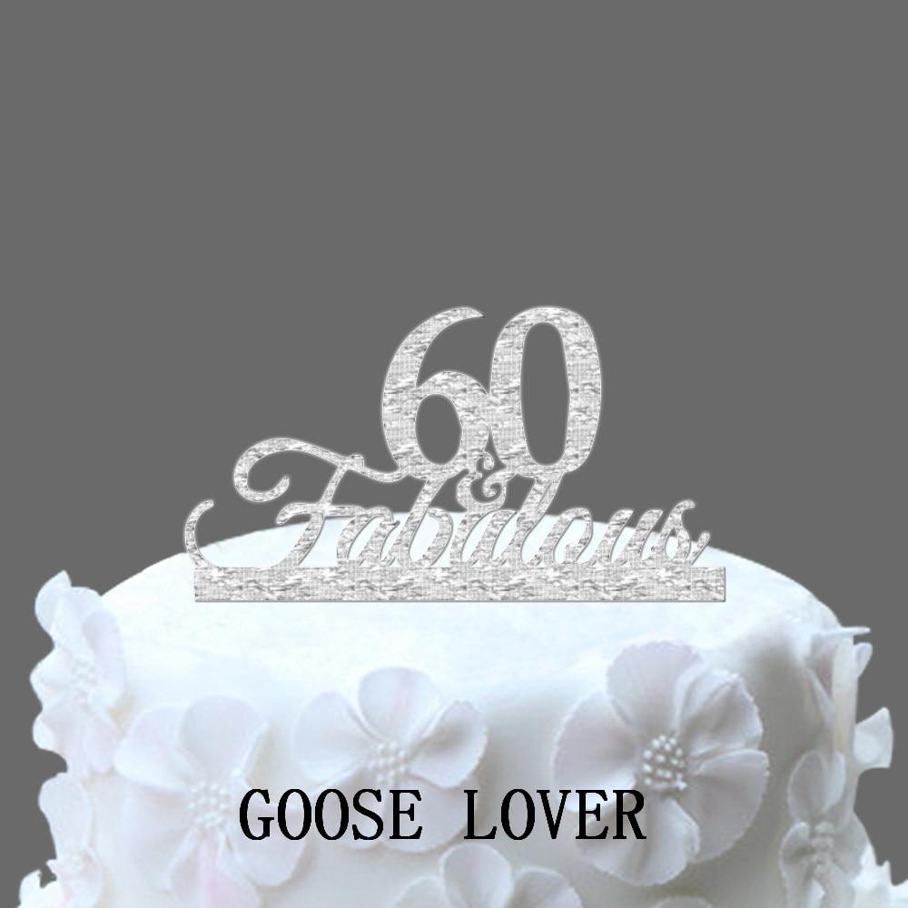 Fabulous 60 Birthday Cake Decoration 60th Acrylic