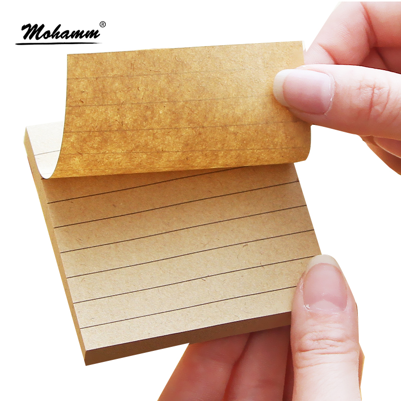 Kraft Paper Line Planner Stationary Stationery Office School Supplies Diary Stickers Scrapbooking Sticky Note Memo Pad