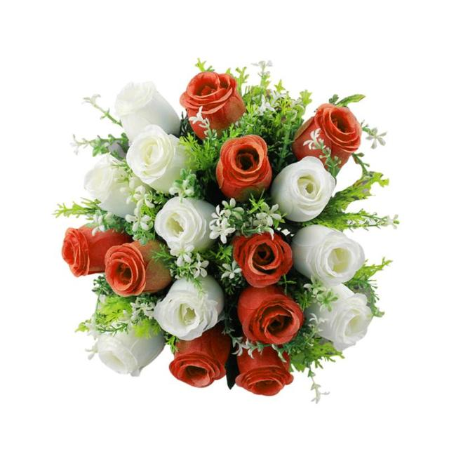 18 Head Very Beautiful Man made Silk Roses Bridal Bouquet Roses Home ...