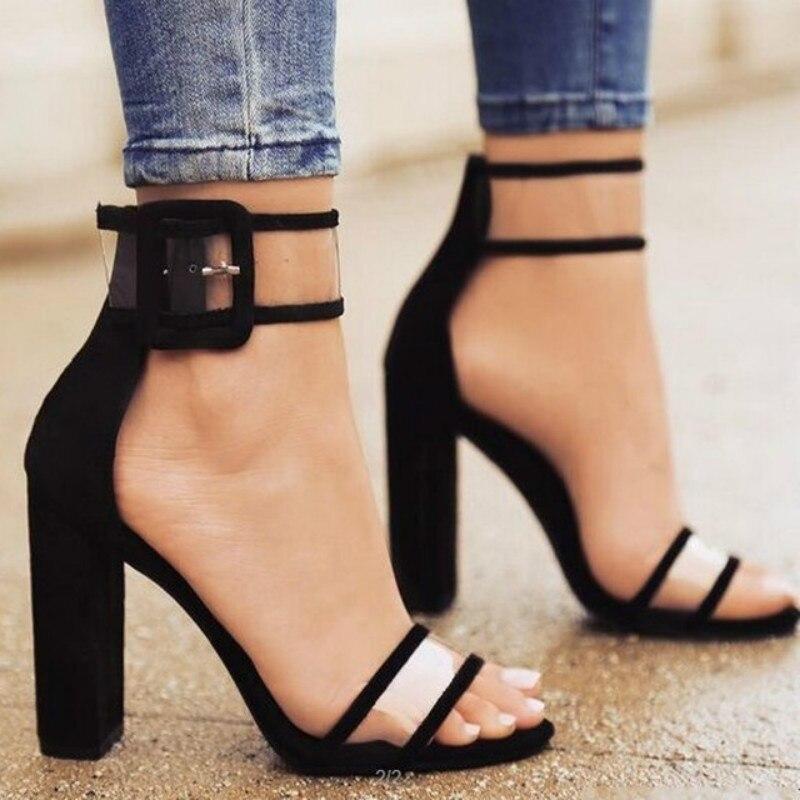 2018 scarpe da Donna Scarpe Estive T-stage di Ballo di Moda Tacco Alto Sandali Sexy Stiletto Partito Scarpe Da Sposa Bianco Nero 2258 W