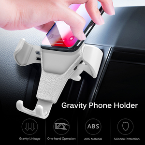 Image 2 - Universal Car Phone Holder Gravity Car Air Vent Mount In Car For iPhone XS X Samsung Xiaomi One hand Operate Phone Stand Bracket