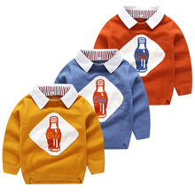 2018 Autumn&winter Kids Sweaters Baby Boys Sweaters Wool Pullover Sweater Jumper Casual Knitted Children Clothes