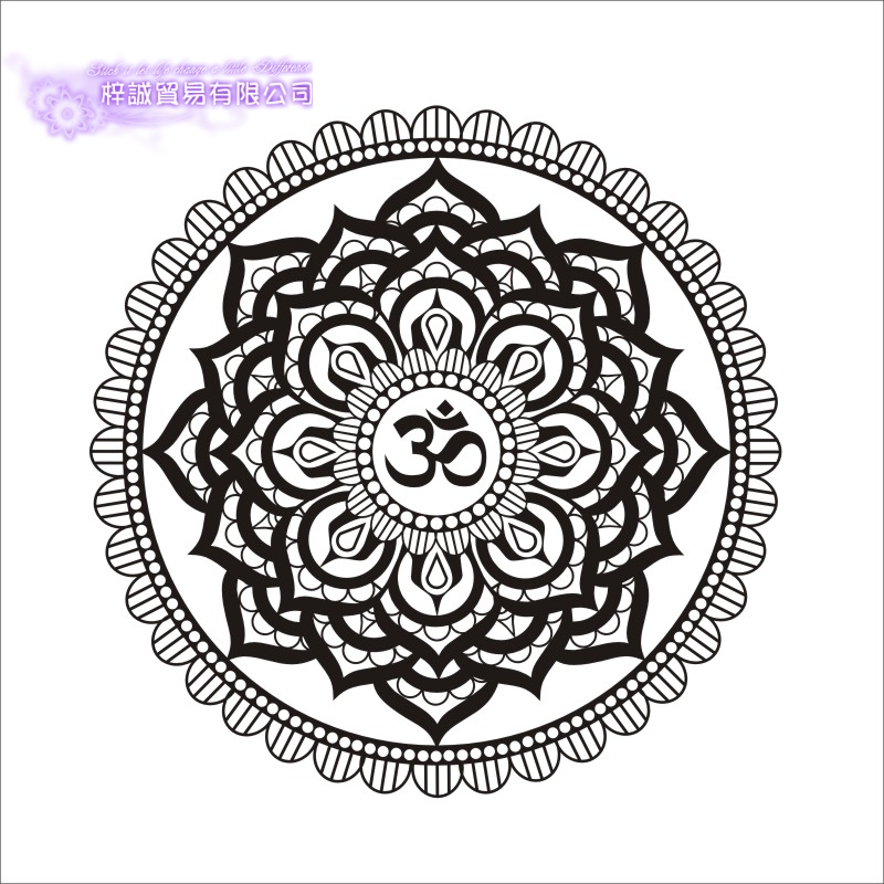 Dctal Hand Buddha Quotes Namaste Wall Decals Yoga Mandala Wall Stickers For Living Rooms Diy Home Decor Yoga Lotus Decoration Wall Stickers Home & Garden