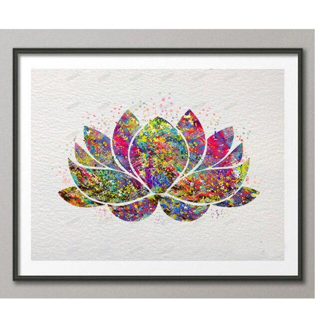 Diydiamond Embroiderylotus Floweryoga Symbol5ddiamond Painting