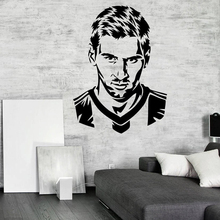 Messi Football Player Vinyl Wall Sticker Mural Barcelona FC Football Club Player Wall Art Decal Bedroom Home Decor Poster W348