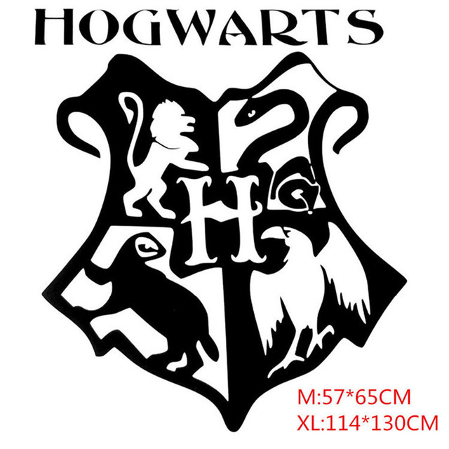 Large size harry potter hogwarts badge posters carved wall stickers with transfer film magic school logo