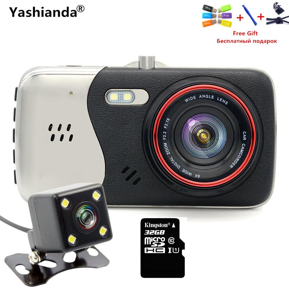 Yashianda Car Tachograph 4 Inch IPS Screen Car DVR Novatek Car Camera T810 Dash Camera Full HD 1080P Video 170 Degree Camcorder