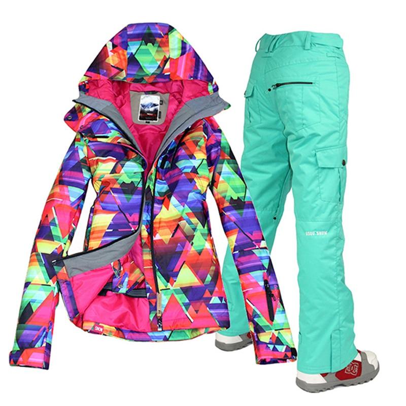 envo gratis impermeable chaqueta gsou nieve juego de esqu de nieve para mujer trajes de