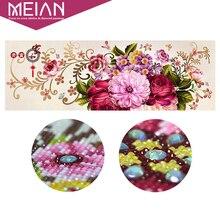 Meian 5D diy 특별 한 모양의 다이아몬드 자 수 꽃 크로스 스티치 구슬 그림 다이아몬드 모자이크 그림 클래식 홈 장식