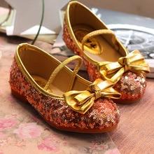 Summer Autumn Cute Bow Sequins Children Shoes Girls Princess Sneakers Child Kids Dance Shoes S0275