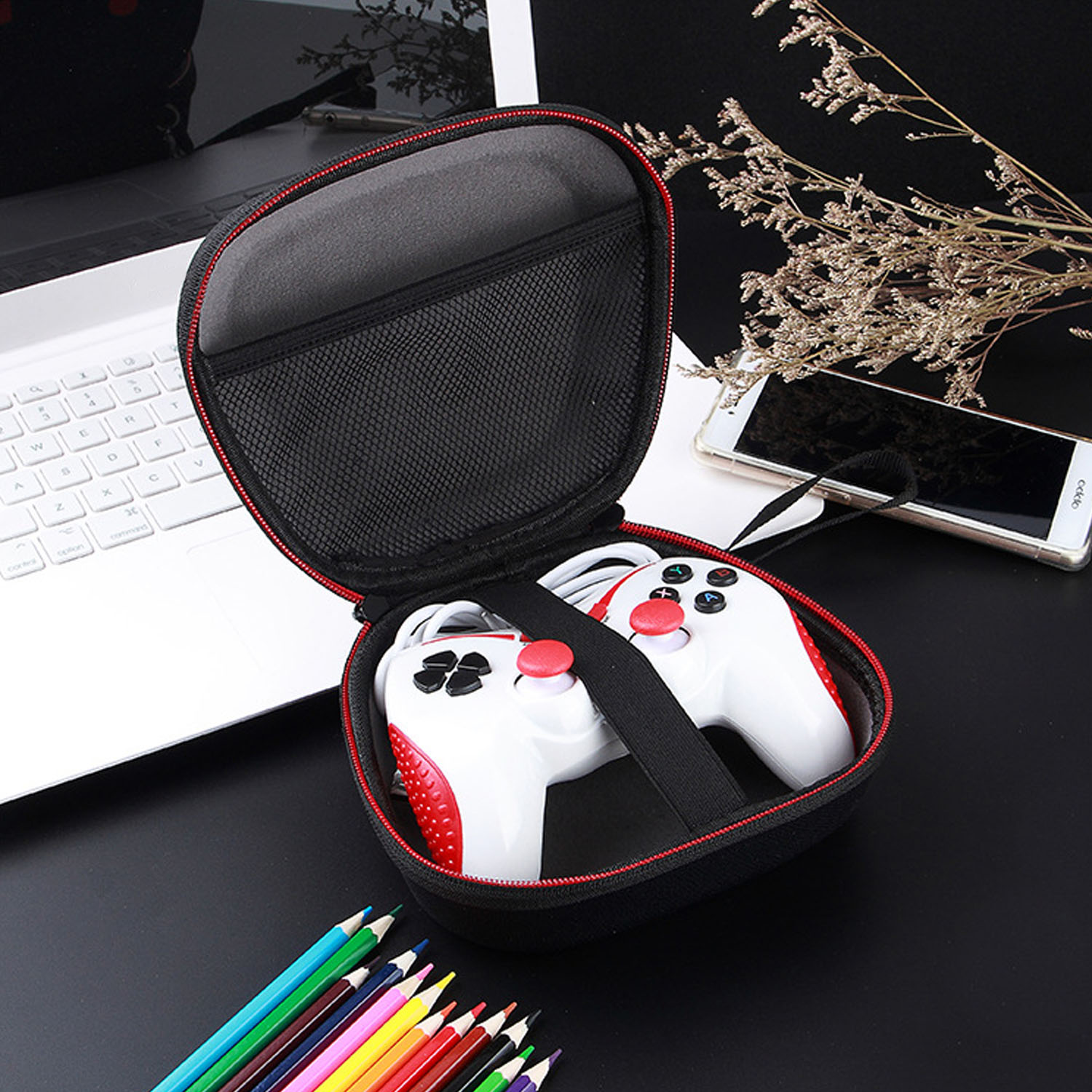 Bevigac Hard Shell Travel Carrying Case Bag Pouch Sleeve Shell Skin for Xbox One X S 360 Controller Console Accessories Gadgets