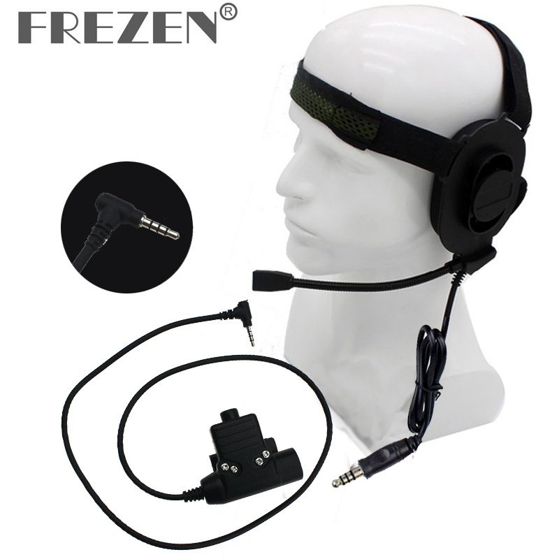 HD01 Z Tactical Bowman Elite II Headphone With U94 PTT Z113 Standard Edition Adapter For Yaesu VX-3R VX-110 FT-10R Two Way Radio