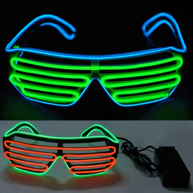 Glow Party Supplies Neon Party El Glasses El Wire Neon Led Sunglasses Light Up Glasses Rave Costume Party Dj Sunglasses Birthday Party Decoration Home & Garden