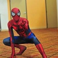 Костюмы для взрослых на Хэллоуин marvel lycra Ultimate удивительный костюм Человека паука маска объектив 3D печать