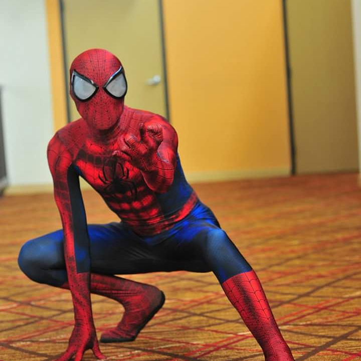 Halloween adult Suits marvel lycra Ultimate Amazing Spiderman Costume Cosplay mask lens 3D Printing