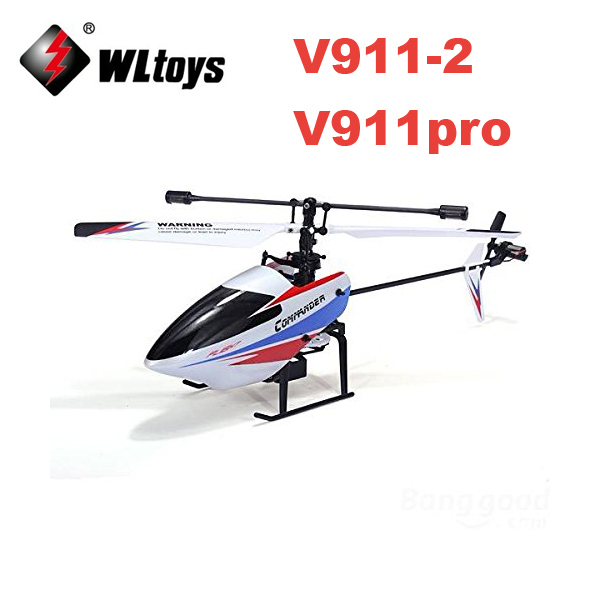 цена на WLtoys V911-V2 V911-2 4-Channel 2.4GHz Rechargeable RC Helicopter Remote Control Drone with Gyro RTF