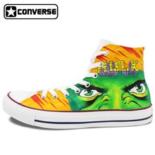 Anime Converse All Star Men Women Shoes Hulk Design Hand Painted Sneakers Boys Girls Christmas Gifts