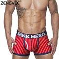 Новое Прибытие Mens Underwear Боксеры Британский Стиль Хлопка Стрейч Полосатые Боксер Моды Смотреть Высококачественные