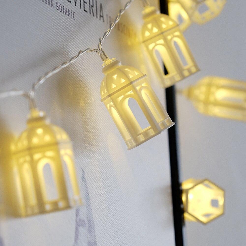 Creative LED House Shape Light String Small House Model ...