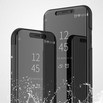 3a56bbb1709 Funda de espejo transparente para iPhone 7 8 6 6 S Plus X 10 Funda ...
