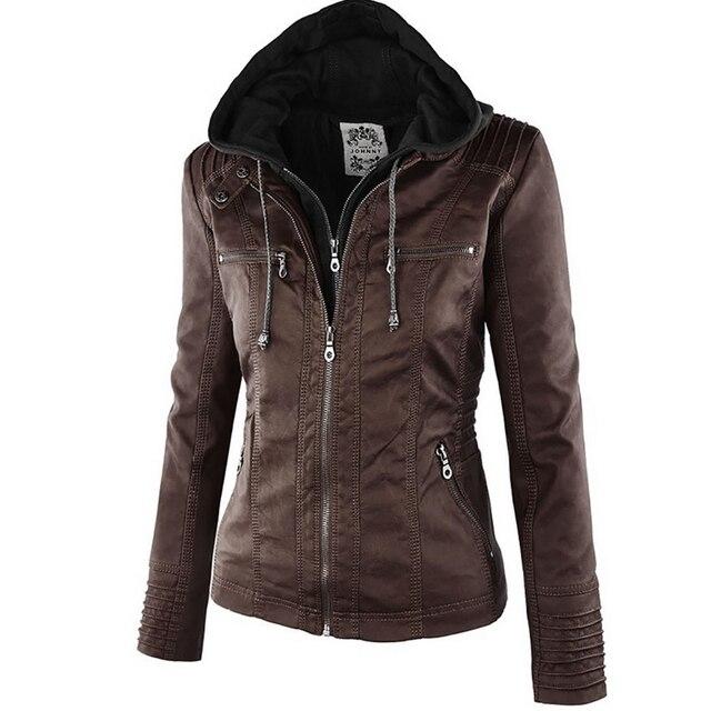 Winter Faux Leather Jacket Waterproof Windproof Coats 6