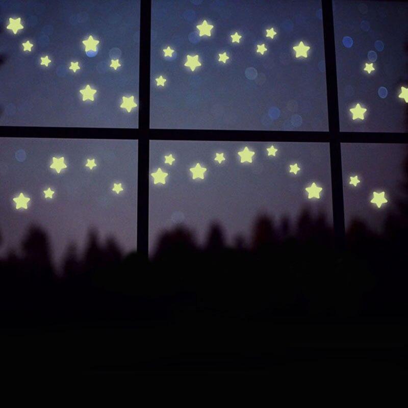 100pc Kids Baby Bedroom Wall Sticker Star Fluorescent Glow In The Dark Stars  Wall Stickers Home Decor. Kids Baby Bedroom Wall Sticker Star Fluorescent Glow In The Dark
