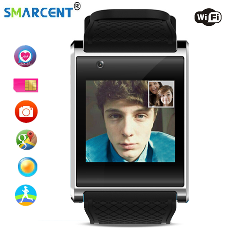 SMARCENT X11 Smartwatch 4GB ROM with 2.0M Camera Smart Watch Support 3G WIFI GPS MTK6580 Smart Band Health Tracker Android 5.1