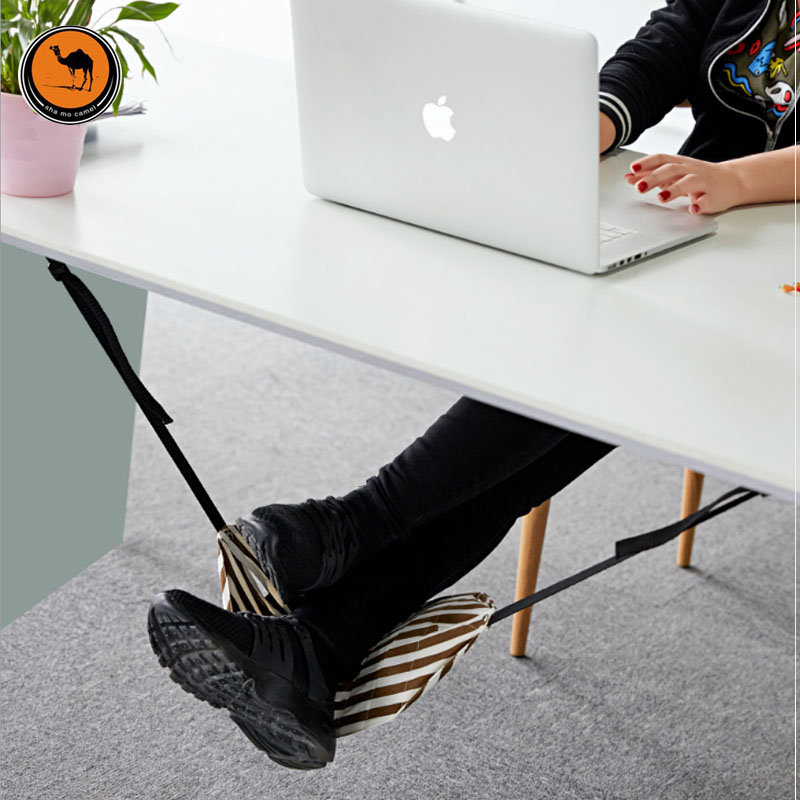 Fashion Indoor Light Portable Desk Foot Rest Hammock Aircraft Office Carry-on Chair For Feet Moves Bag Custom Hamaca Hamac adjustable carry on foot rest hammock for airplane train