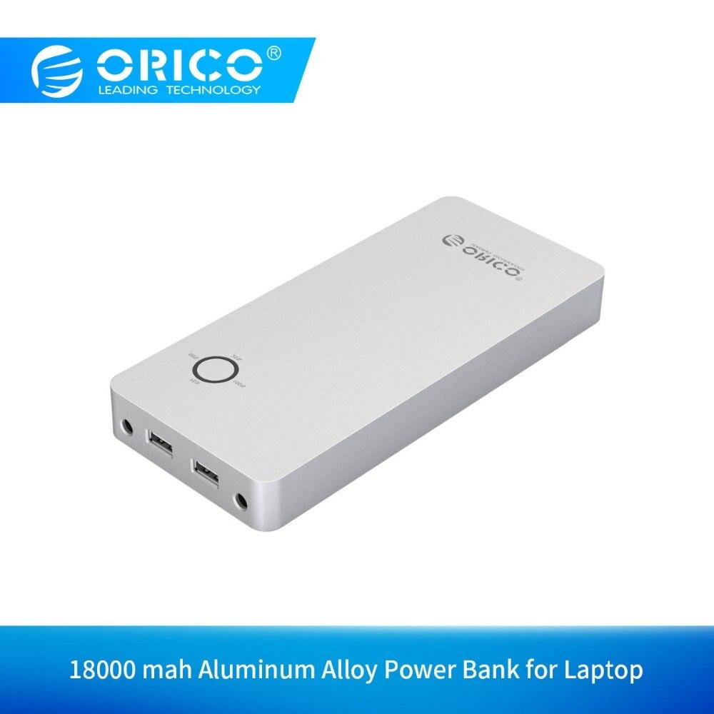ORICO batterie externe en alliage d'aluminium pour ordinateur portable 18000mAh double sortie USB un Port DC 12/15/19V pour ordinateur portable Pad