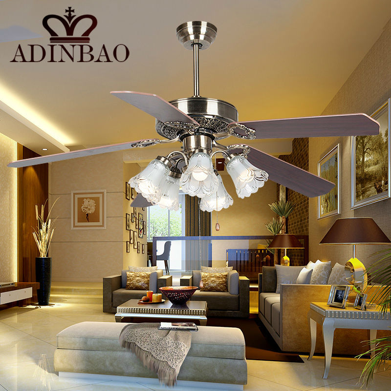 Hot sale lightweight wood leaf ceiling fan light with clear glass ...
