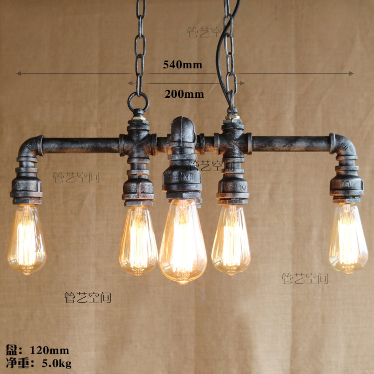 Water pipe Steampunk Vintage pendant lights for dining room Bar rust red home decoration American industrial loft pendant lampWater pipe Steampunk Vintage pendant lights for dining room Bar rust red home decoration American industrial loft pendant lamp