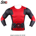 NEW 2016  Compression Shirt Marvel Super Heroes Deadpool Avenger Captain America  3D Print T-Shirt long sleeves S-XXXXL