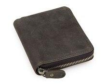100% Genuine Leather Mens Coin Pocket Wallet Credit Card Holder Fashion Dark Brown Short 8083R