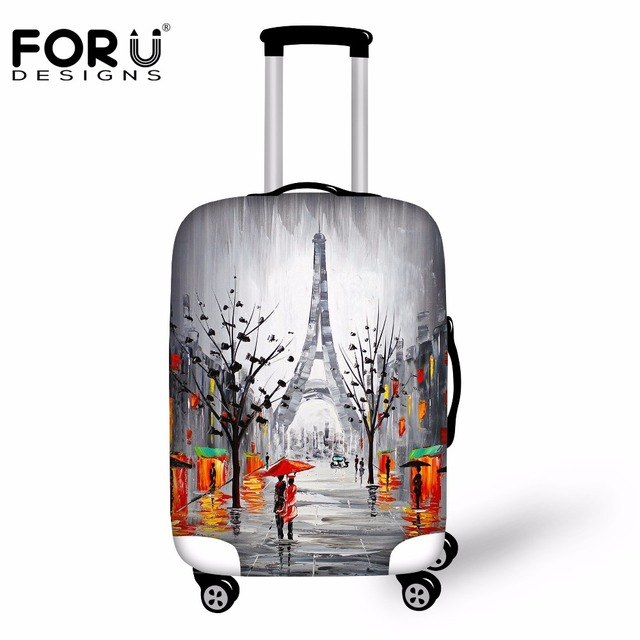 FORUDESIGNS 3D Painting Print Waterproof Rain Cover Luggage Protective Cover For 18-30 Inch Suitcase Spandex Travel Accessories