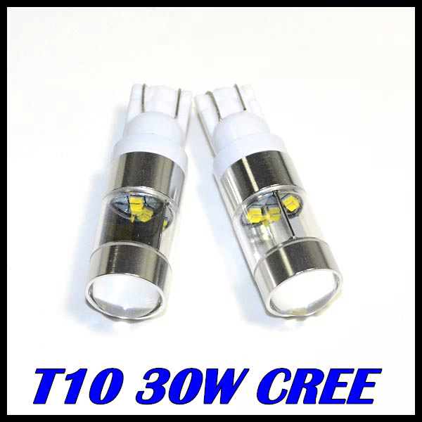 t10 led 194 168 w5w cree chip led 30w Car Wedge Backup Rear ReverseTail LED Turn signal Parking Led White itimo 10x t10 194 168 w5w 360 degree