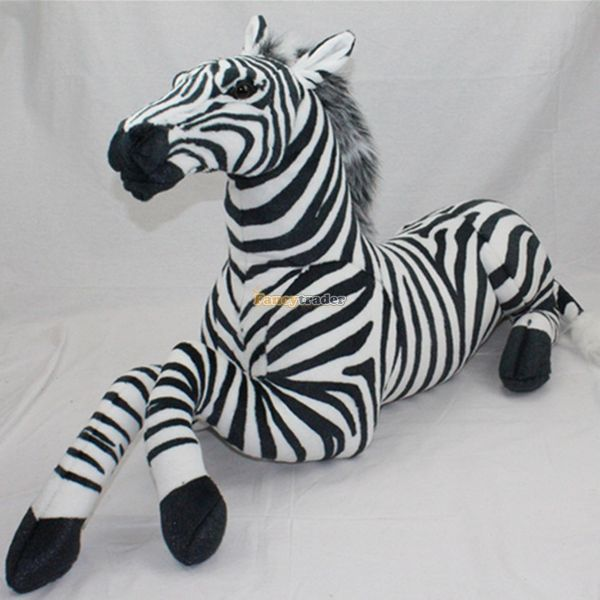 Fancytrader 43'' / 110cm Jumbo Lovely Stuffed Soft Plush Cute Simulated Zebra Toy, Great Gift For Friends, Free Shipping FT50617 fancytrader 2015 new 20 50cm lovely stuffed soft plush giant cute animal eagle toy great gift free shipping ft50750