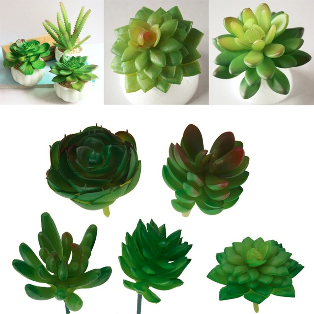 1Pc Artificial Mini Plastic Miniature Succulents Plants Art