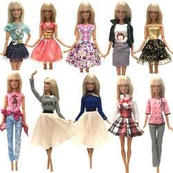 NK новые куклы платье красивый наряд ручной работы праздничная одежда топ модная юбка для Барби прекрасная кукла Best ребенок Girls'Gift JJ