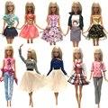 NK nuevo vestido de la muñeca hermosa traje hecho a mano ropa de fiesta de moda falda Barbie Noble muñeca mejor hijo Girls'Gift JJ