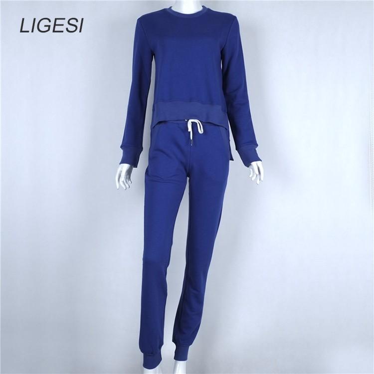 Women's Cotton Tracksuit, 2 Piece Set, Sportswear Suit, Women's Irregular Tracksuit 20